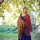 Order Batik silk stole 'Autumn Blues'. OlgaPastukhovaArt. Livemaster. . Wraps Фото №3