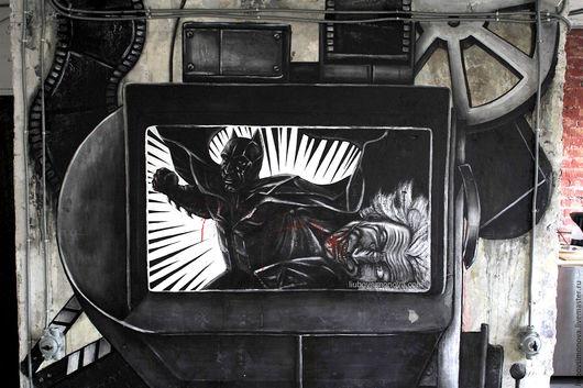 Роспись стены `Batman` Материал: акриловые краски. Размер стены: 2700х2500мм  Цена 4500 кв.м.
