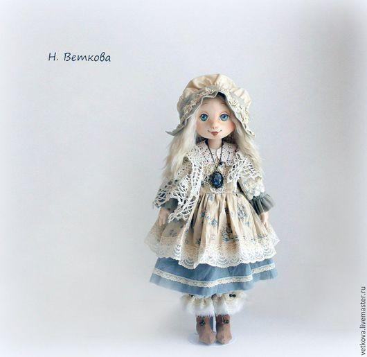 Коллекционные куклы ручной работы. Ярмарка Мастеров - ручная работа. Купить Марусенька интерьерная текстильная коллекционная кукла на счастье. Handmade.