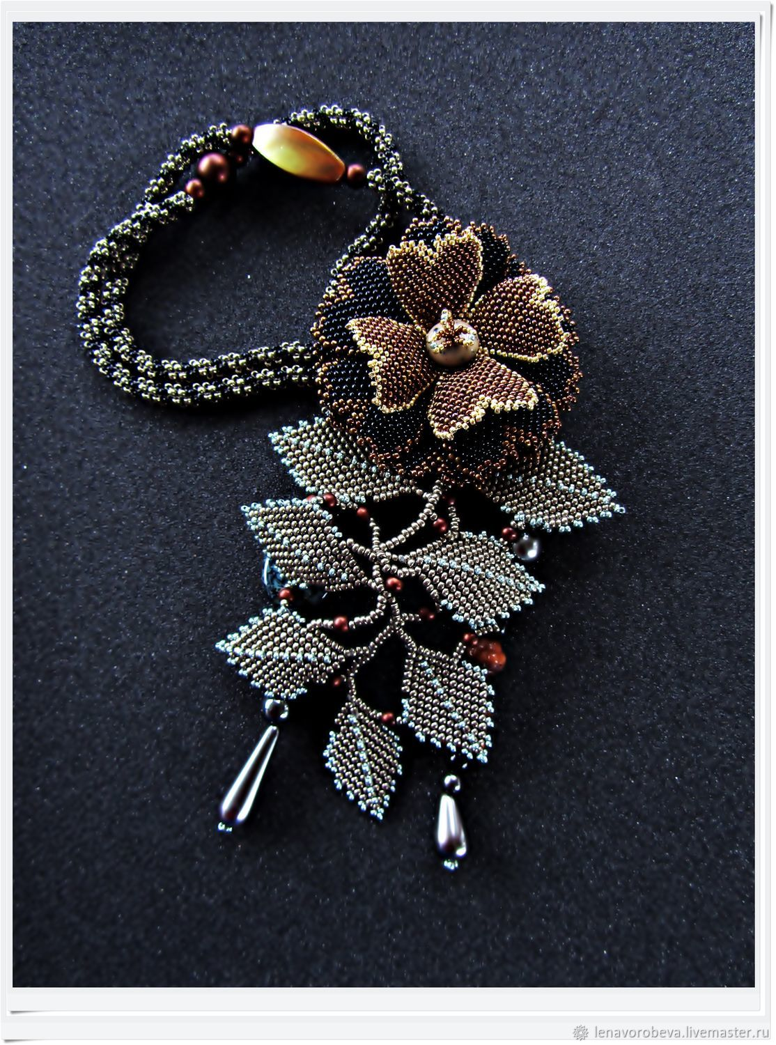 Necklace-pendant '... and flowers grow on the rocks...', Necklace, Voronezh,  Фото №1