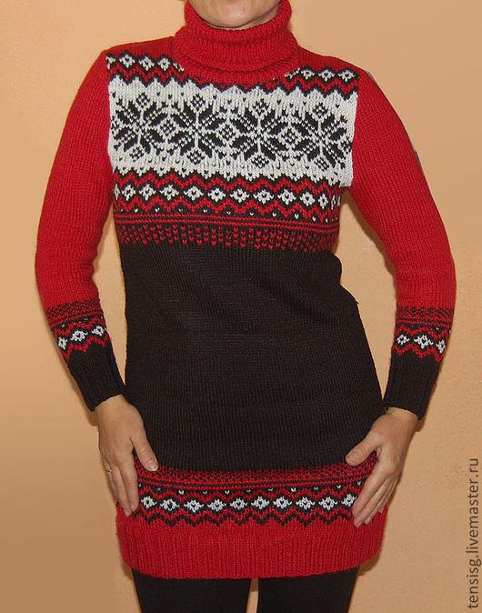 Платья ручной работы. Ярмарка Мастеров - ручная работа. Купить платье ЛЕНА. Handmade. Ярко-красный, мягкое, шерсть с акрилом