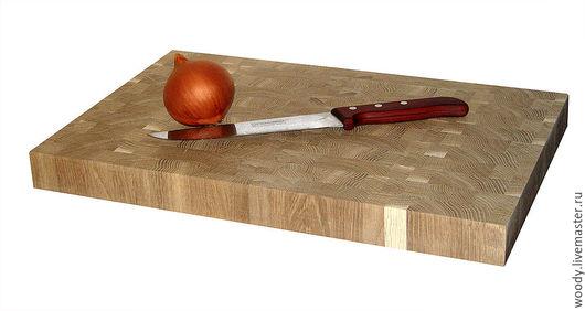 Кухня ручной работы. Ярмарка Мастеров - ручная работа. Купить Разделочная доска торцевая 450х300х40мм. Handmade. Купить, для кухни, доска