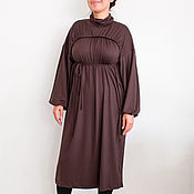 Одежда handmade. Livemaster - original item Brown sweater dress Tunic women`s Long tunic women`s Blouse. Handmade.