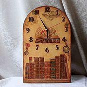 """Для дома и интерьера ручной работы. Ярмарка Мастеров - ручная работа Часы """"Библиотека"""". Handmade."""