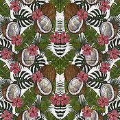 Материалы для творчества handmade. Livemaster - original item Napkins for decoupage tropically plants and coconut. Handmade.