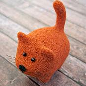 Куклы и игрушки ручной работы. Ярмарка Мастеров - ручная работа Апельсиновый кот (игрушка из шерсти). Handmade.