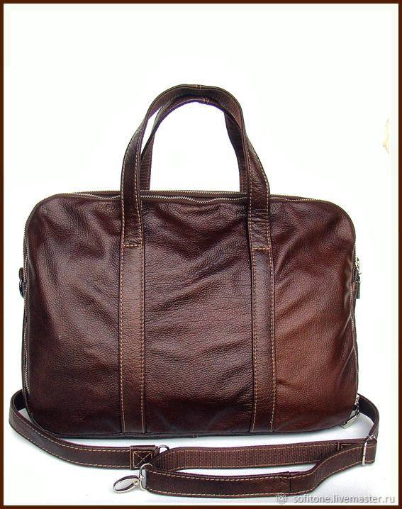 ca42370f4b01 Сумки для ноутбуков ручной работы. Ярмарка Мастеров - ручная работа. Купить  Кожаная сумка для ...