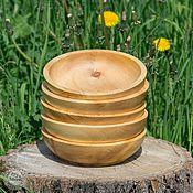 Для дома и интерьера ручной работы. Ярмарка Мастеров - ручная работа Тарелки из сибирского кедра набор 5 шт Для пищевых продуктов и пр TN15. Handmade.