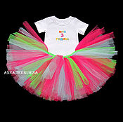 Работы для детей, ручной работы. Ярмарка Мастеров - ручная работа Комплект юбочка/футболка  на 3 года. Handmade.
