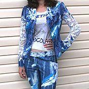 """Одежда ручной работы. Ярмарка Мастеров - ручная работа """"Вероника"""" джинсовый костюм. Handmade."""