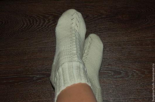 Носки, Чулки ручной работы. Ярмарка Мастеров - ручная работа. Купить Носки женские ажурные. Handmade. Серый