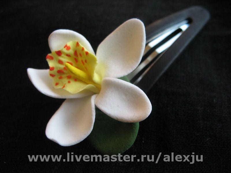 Заколочка-орхидейка, Заколки, Москва,  Фото №1