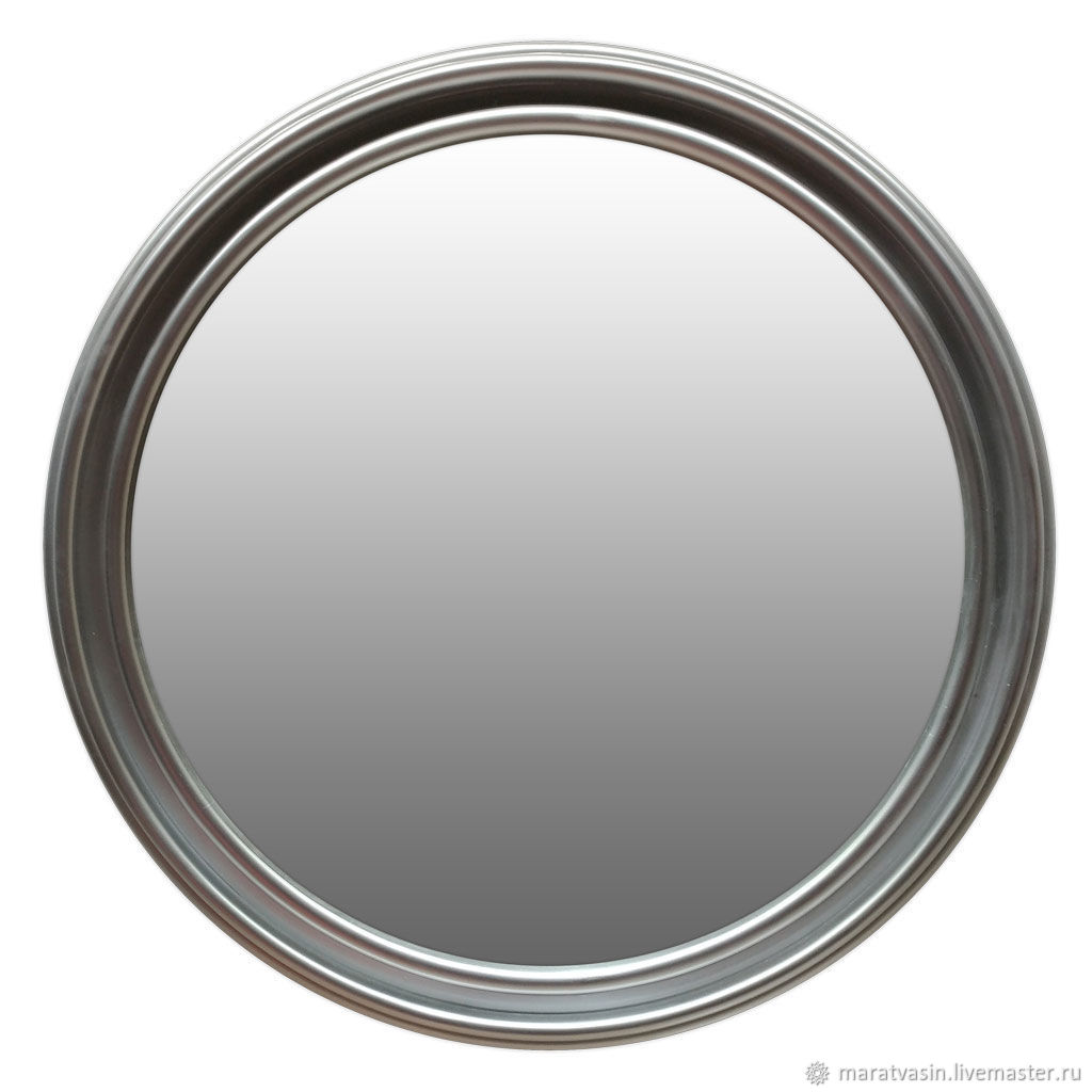 Круглое зеркало в серебряной раме, Зеркала, Москва,  Фото №1