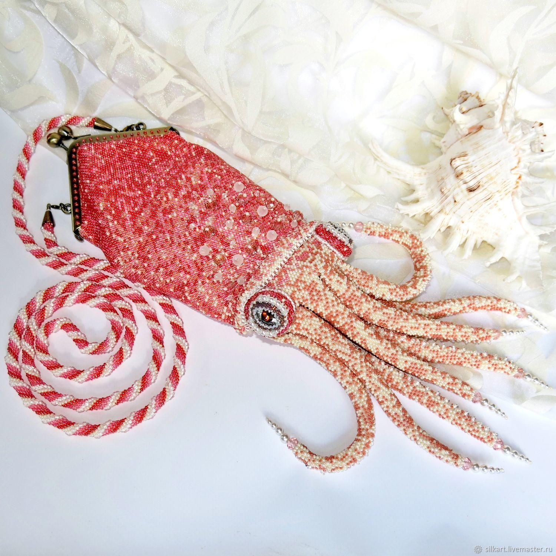 Bag with clasp: Bead bag Squid, Clasp Bag, Zheleznodorozhny,  Фото №1
