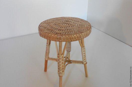 Мебель ручной работы. Ярмарка Мастеров - ручная работа. Купить Табурет, плетеный из лозы.. Handmade. Табурет, табуретка, плетеный, из лозы