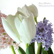 Для дома и интерьера ручной работы. Ярмарка Мастеров - ручная работа Гиацинты и тюльпаны из полимерной глины. Handmade.