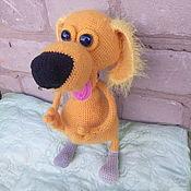 Куклы и игрушки ручной работы. Ярмарка Мастеров - ручная работа Вязаная собачка. Handmade.