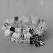 Украшения handmade. Livemaster - original item Bracelets Three cats with hematite. Handmade.