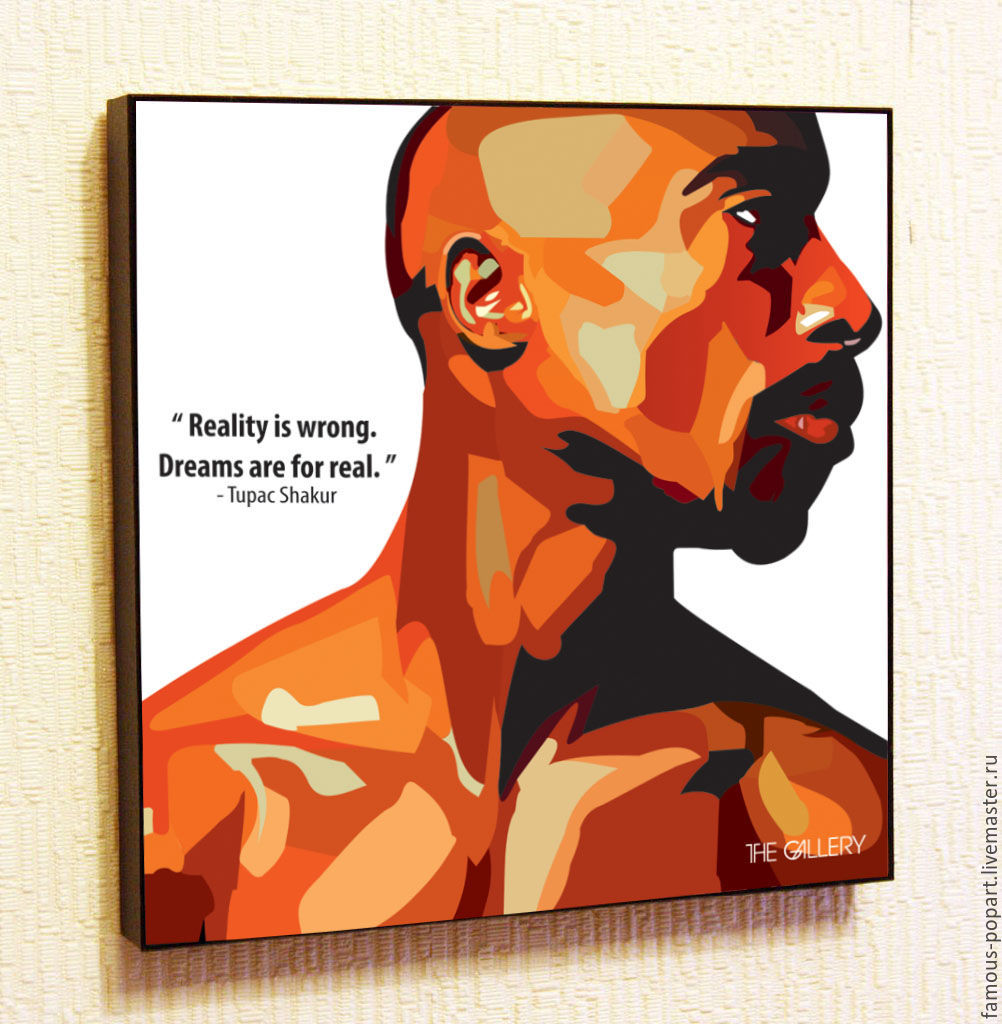 Picture poster Tupac Shakur Pop Art, Fine art photographs, Moscow,  Фото №1