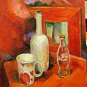 Картины и панно ручной работы. Ярмарка Мастеров - ручная работа Красный натюрморт. Handmade.