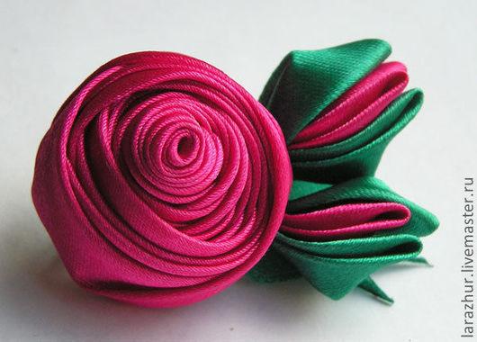 """Броши ручной работы. Ярмарка Мастеров - ручная работа. Купить Брошь-роза """"Яркий день"""". Handmade. Брошь роза"""