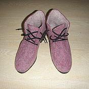Обувь ручной работы. Ярмарка Мастеров - ручная работа Валяные ботинки, 36,5-37. Handmade.