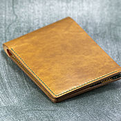 Сумки и аксессуары handmade. Livemaster - original item Leather Bifold Wallet + lining. Handmade.