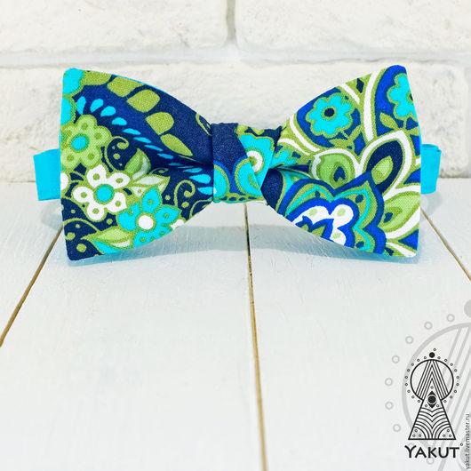 Галстуки, бабочки ручной работы. Ярмарка Мастеров - ручная работа. Купить Галстук бабочка Хвост павлина / бабочка-галстук турецкий узор. Handmade.