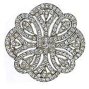 Брошь кристаллы Swarovski 1928 Jewelry США 38989