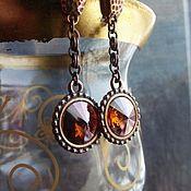 Украшения handmade. Livemaster - original item AMARETTO earrings Swarovski crystals. Handmade.