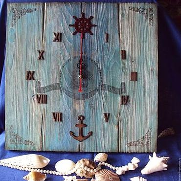 Для дома и интерьера ручной работы. Ярмарка Мастеров - ручная работа Морские часы 40 см. Handmade.