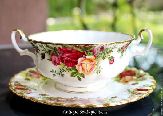 Винтажная посуда. Ярмарка Мастеров - ручная работа. Купить 1960е Royal Albert, Серия Old Country Roses. Бульонная чаша. Handmade.