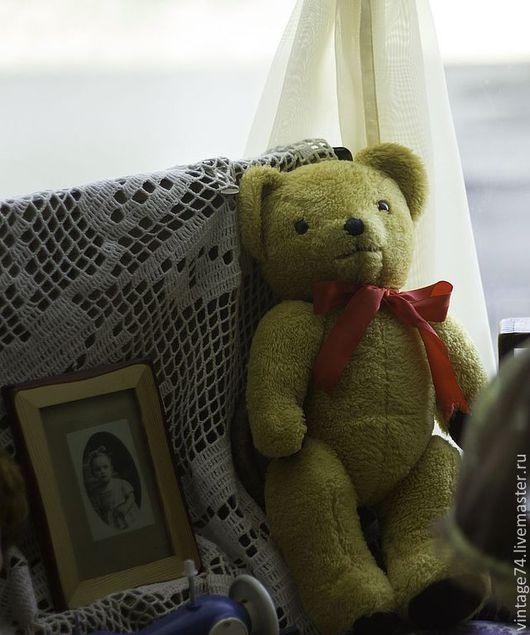 Мишки Тедди ручной работы. Ярмарка Мастеров - ручная работа. Купить Винтажный мишка America. Handmade. Коричневый, винтаж, плюш