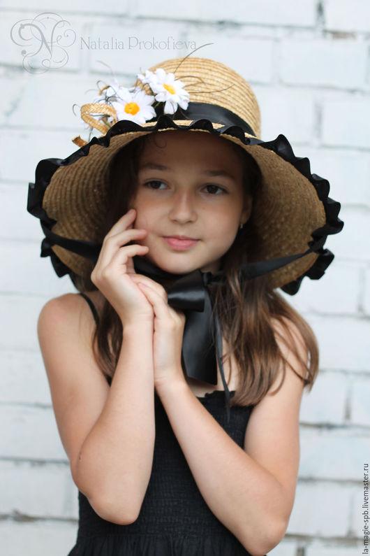 """Шляпы ручной работы. Ярмарка Мастеров - ручная работа. Купить Детская шляпка """"Marguerites a la mode"""" (Модные ромашки). Handmade."""