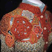 Одежда ручной работы. Ярмарка Мастеров - ручная работа Жакет с цветочной кокеткой. Handmade.