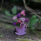 """Украшения ручной работы. Ярмарка Мастеров - ручная работа Броши """"Чайная чашка"""". Handmade."""
