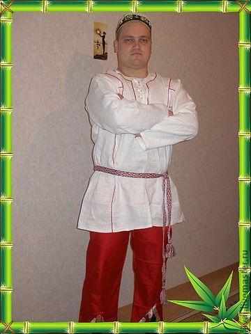 Этническая одежда ручной работы. Ярмарка Мастеров - ручная работа. Купить рубаха мужская, праздничная. Handmade. Белый, славянский стиль