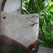 Сумки и аксессуары ручной работы. Ярмарка Мастеров - ручная работа валяная  сумка -Просто осень , сумка ручной работы,. Handmade.