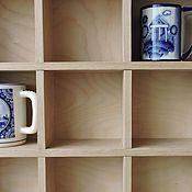 Для дома и интерьера ручной работы. Ярмарка Мастеров - ручная работа Три в одном - полка, витрина, ящик. Handmade.