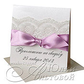 Приглашения своими руками на свадьбу с кружевом