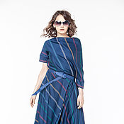 Одежда handmade. Livemaster - original item АГ_016 asymmetric Dress with pockets so blue. Handmade.