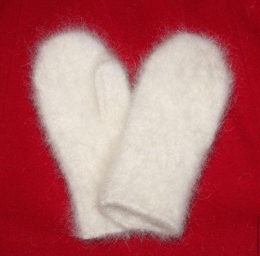 Варежки, митенки, перчатки ручной работы. Ярмарка Мастеров - ручная работа. Купить Пуховые варежки. Handmade. Комбинированный, пуховые изделия