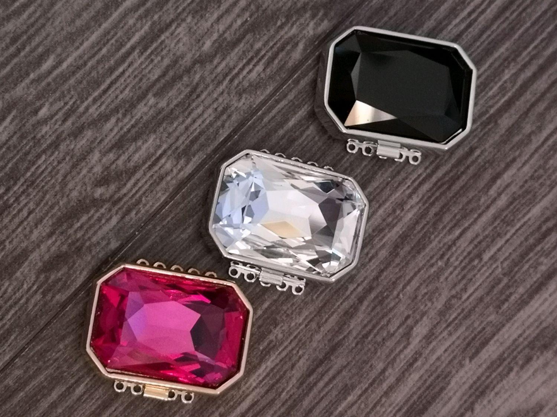 Замочек ювелирный с кристаллом, Фурнитура, Хабаровск,  Фото №1