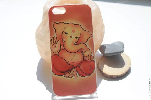 Для телефонов ручной работы. Ярмарка Мастеров - ручная работа. Купить Чехол Ганеш для iPhone 5/5s (AK0050). Handmade. Рыжий