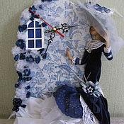 """Для дома и интерьера ручной работы. Ярмарка Мастеров - ручная работа часы """"Синий вечер"""". Handmade."""