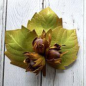 """Украшения ручной работы. Ярмарка Мастеров - ручная работа """"Лесной орех"""" Брошь из фоамирана. Handmade."""