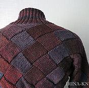 Одежда ручной работы. Ярмарка Мастеров - ручная работа Шраг вязаный Бордовый темный энтрелак. Handmade.