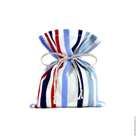 Подарочная упаковка ручной работы. Ярмарка Мастеров - ручная работа. Купить Мешочки Полоска. Handmade. Упаковка, упаковка для мыла