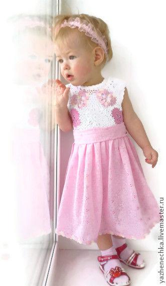 Одежда для девочек, ручной работы. Ярмарка Мастеров - ручная работа. Купить Платье из хлопка для девочки Бабочки - цветочки. Handmade. платье