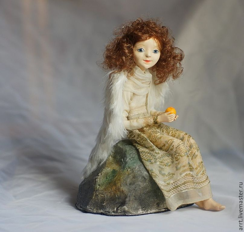 Angel with orange. art doll, Dolls, St. Petersburg,  Фото №1